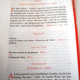 Deutsche Bibel natürlich auch