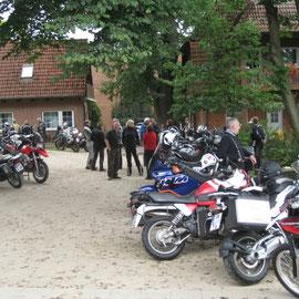 Abfahrt war wieder am Reiterhof in Brockhöfe