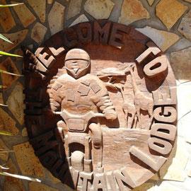 Das Zeichen der Mountain Lodge
