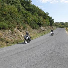 Auf dem Weg zum Berg Col de Meyrand