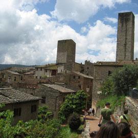 und San Gimignano mit seinen Geschlechtertürmen