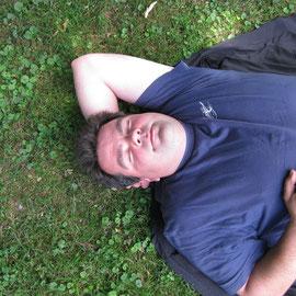 Robert fühlte sich auch wohl und war saumüde