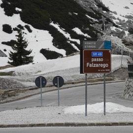 Auf dem Rückweg kommen wir auch über den Falzarego - Pass
