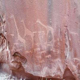 und deren Jahrtausende alten Felszeichnungen