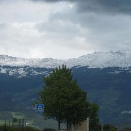 Auf dem letzten Abschnitt dann kündigte sich der Wetterumschwung an...hoffentlich Regen - bitte keinen Schnee mehr!