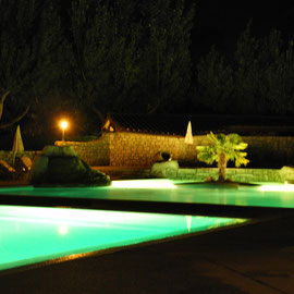 Der Pool vom Campingplatz by night