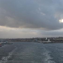 während das Schiff sich Richtung Holland durch die Nordsee kämpft
