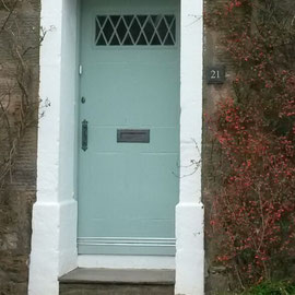 Blaue Haustür in Crail