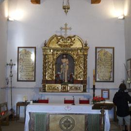 Interior de la Ermita del Ecc Homo