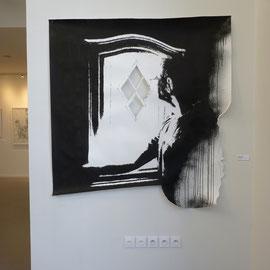 DE L'AUTRE CÔTÉ # 7 - Encre de Chine sur papier (160g) - 150 x 160 cm - 2016 - © Sébastien Veniat