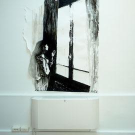 DE L'AUTRE CÔTÉ # 11 - Encre de Chine, lavis, graphite sur papier (160g) - 192 x 150 cm - 2018