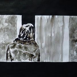 1'37'03 - Encre de Chine, lavis sur papier (200g) - 50 x 65 cm - 2019