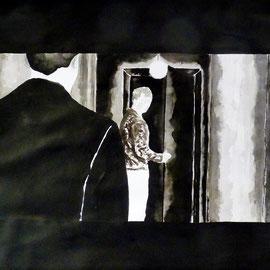 1'15'39 - Encre de Chine, lavis sur papier (200g) - 50 x 65 cm - 2019