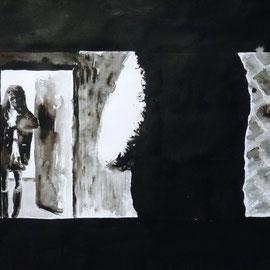 1'17'02 - Encre de Chine, lavis sur papier (200g) - 50 x 65 cm - 2019