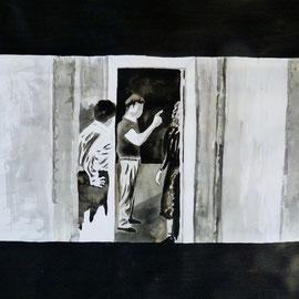 1'14'44 - Encre de Chine, lavis sur papier (200g) - 50 x 65 cm - 2019