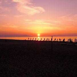 "Sonnenuntergang Strand ""Adelianos Kampos"""