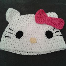 """Mütze """"Kitty"""" aus dickerer Baumwolle, ideal für den Übergang und Winter"""