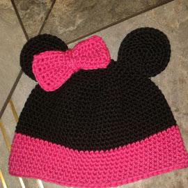 """Mütze """"Mausi"""" aus dickerer Baumwolle, ideal für den Übergang und Winter"""