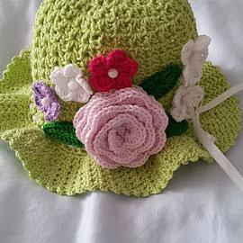 """Hut """"Blume"""" aus Baumwolle"""