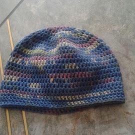 """Mütze """"einfach"""" aus dickerem Baumwollmischgarn, für Übergangszeit und Winter"""