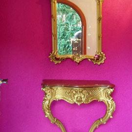 Gold kombiniert mit Pink