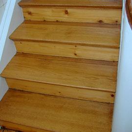 Versiegelung der Holztreppe