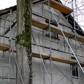 Fassadensanierung mit Gerüst
