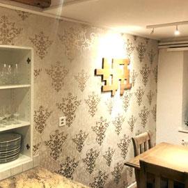 Edler Tapetenlook für Esszimmer und Küche