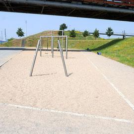 Sandspielfläche oberhalb des Kultushafen, Aufnahme-Datum: 26.06.2019