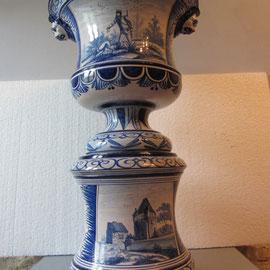 Vasque en faïence de Nevers restaurée2