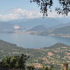 Vue de San Michele, le lac Majeure