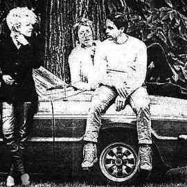 Guerilla-Konzert 1981: Ulrike, George, Peter
