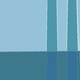 "Sea Weeds 28""x36"" / 海草 71x 92cm,  2001"