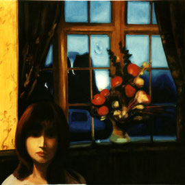 "Blue Night 24""x36"" / 蓝色的夜 61x 91cm, 1999"