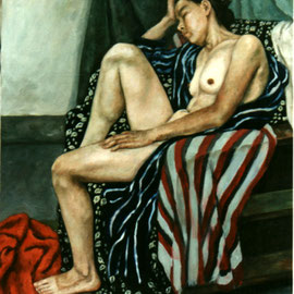 "Tired Woman 32""x 40"" / 困倦的女人 81x 102cm, 1994"