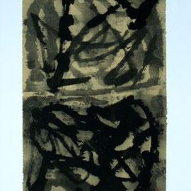 "Study Chinese Calligraphy 05, 24"" x 35.5"" / 学文化05, 60 x 90cm, 2011"