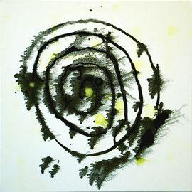 """Spiral, 16""""x16"""" / 旋 40.5 x 40.5cm,  2009"""