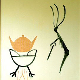 "Immortality 27""x 32"", Oil on Canvas / 永生 69x 81cm,布面油画, 2003"