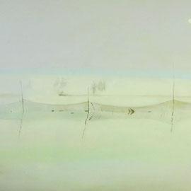 """White Sun, 20""""x 30""""/ 白太阳, 51cm x 76cm, 2012"""