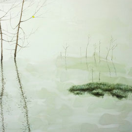 "Swaying in the Water,24"" x 36"" / 水中摇曳,61cm x91.5cm,2013"