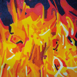 """""""Feuer"""" - Holzdruck"""