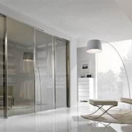 cuisine intérieur design toulouse dressing fermé porte coulissante vitrée avec miroir