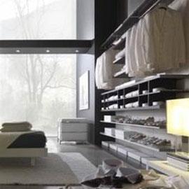 cuisine intérieur design toulouse dressing ouvert tendance moderne bois et blanc rangements