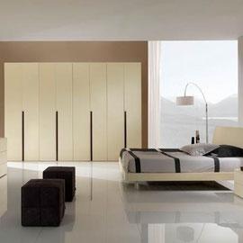 cuisine intérieur design toulouse dressing fermé porte coulissante vitrée beige crème