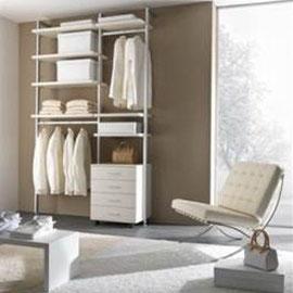cuisine intérieur design toulouse dressing ouvert tendance moderne  blanc rangements