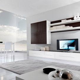 cuisine intérieur design toulouse living salon rangement blanc et bois épuré moderne tendance