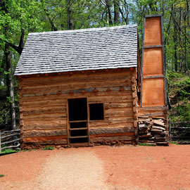 Mount Vernon recreated slave cabin