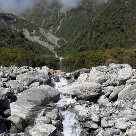 Mill Stream, Chalet Lookout Path, Fox glacier