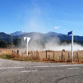 Dust, Motueka Valley
