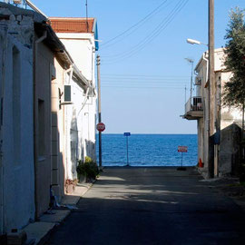 Glimpse of sea, Skala, Larnaka